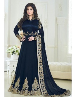 Ayesha Takia In Navy Blue Anarkali Suit - Volono179B