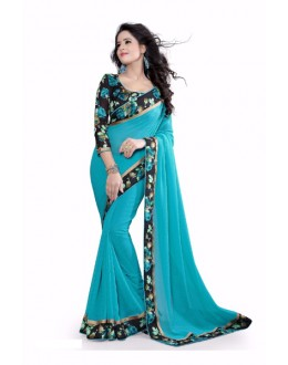 Party Wear Georgette Designer Saree  - ZilmilFirozi
