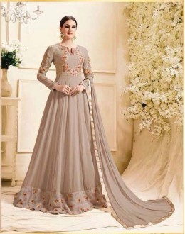 Wedding Wear Chocklate Georgette Anarkali Suit - Zubeda453