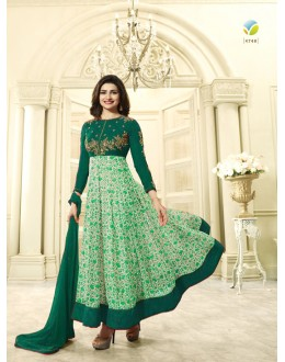 Prachi Desai Green Georgette Anarkali Suit - Prachi4748Green