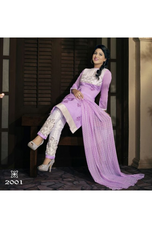 Party wear Purple Georgette Salwar suit - 2001