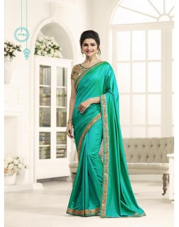 Festival Wear Green Georgette Saree  - Sheesha17704