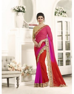 Wedding Wear Pink Paper Silk Saree  - Sheesha17710