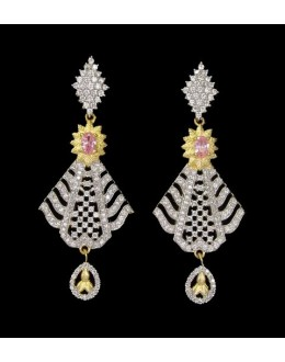 Ethnic Wear Indian CZ Earrings - 91333