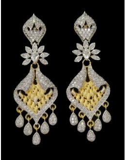 Festival Wear Indian CZ Earrings - 91336