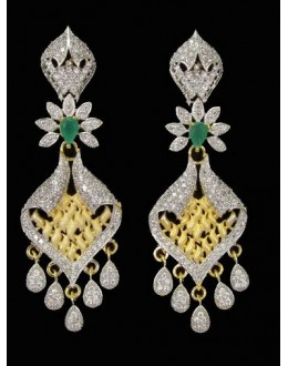 Festival Wear Indian CZ Earrings - 91339