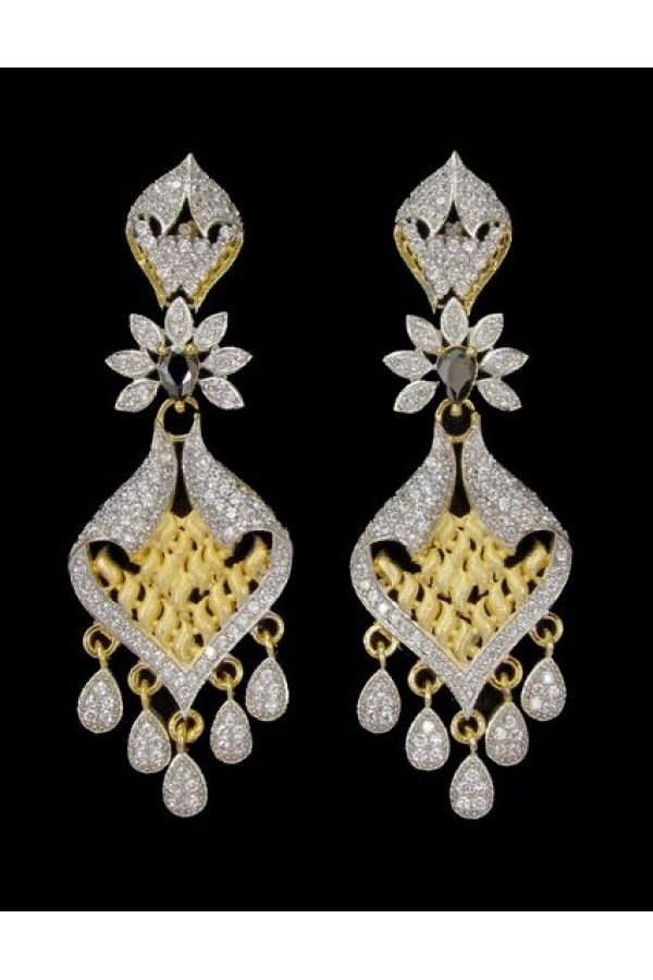 Festival Wear Indian CZ Earrings - 91340