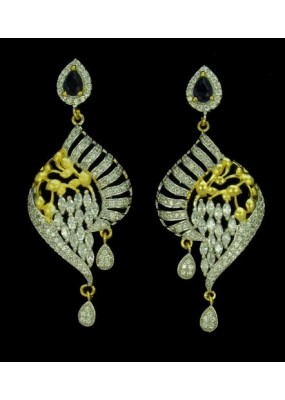 Fancy Indian CZ Earrings - 91346