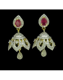 Festival Wear Indian CZ Jhumka - 91369