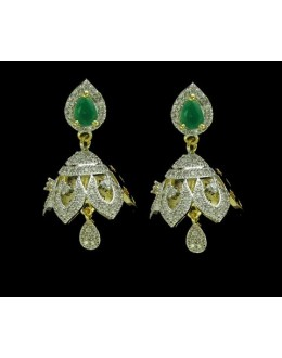 Party Wear Indian CZ Jhumka - 91370