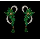 Fancy Indian CZ Earrings - 91454