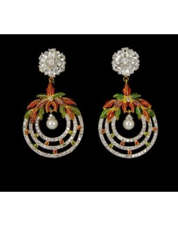 Ethnic Wear Indian CZ Earrings - 91463