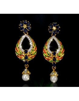 Designer Indian CZ Earrings - 91469