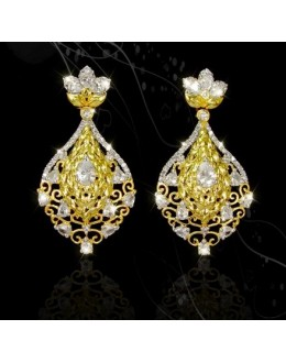 Designer Indian CZ Earrings - 91475