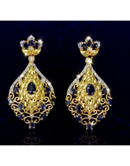 Party Wear Indian CZ Earrings - 91476