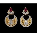 Ethnic Wear Indian CZ Earrings - 91480