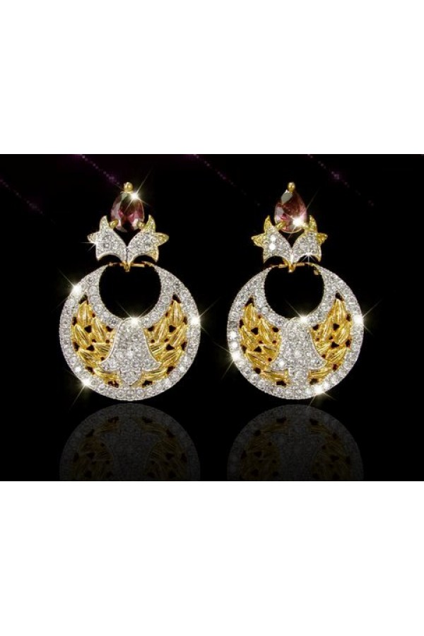 Designer Indian CZ Earrings - 91482