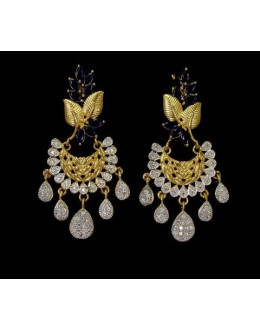 Festival Wear Indian CZ Earrings - 91497