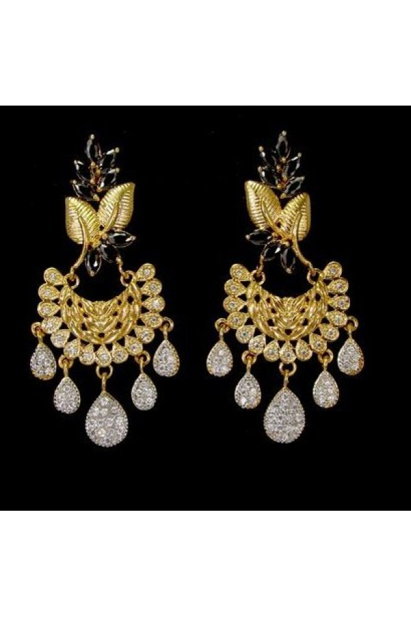 Designer Indian CZ Earrings - 91501