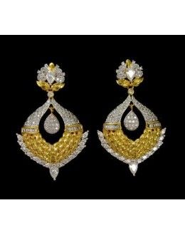 Festival Wear Indian CZ Earrings - 91502
