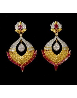 Ethnic Wear Indian CZ Earrings - 91503