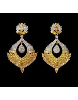 Festival Wear Indian CZ Earrings - 91506