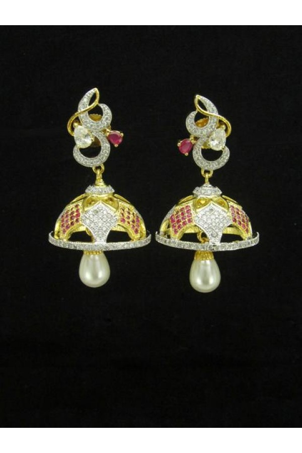 Designer Indian CZ Jhumka - 87449