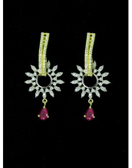 Designer Indian CZ Earring - 87564