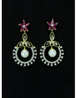 Designer Indian CZ Earring - 87569