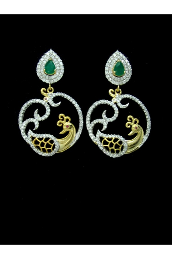 Designer Indian CZ Earrings - 88865
