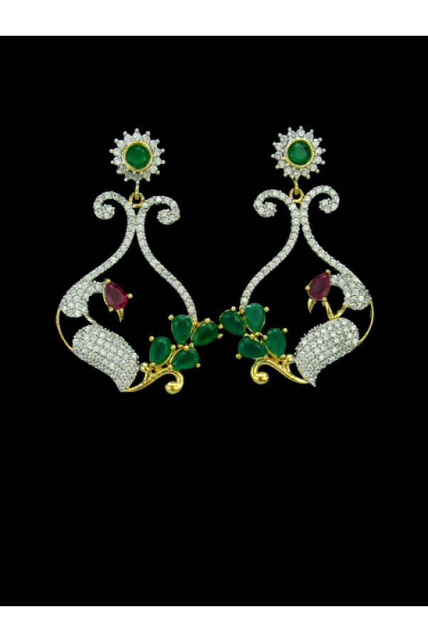 Designer Indian CZ Earring - 88869