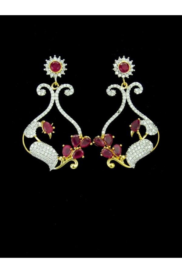 Designer Indian CZ Earring - 88870
