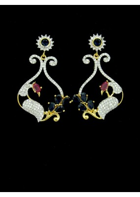 Designer Indian CZ Earring - 88871