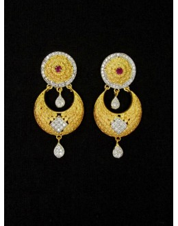 Designer Indian CZ Earring - 89124