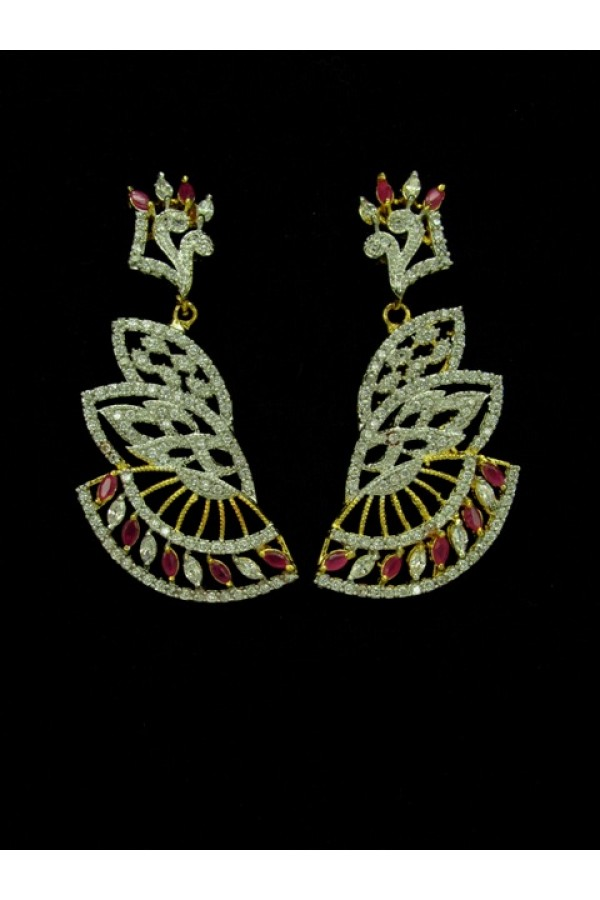 Designer Indian CZ Earring - 89197
