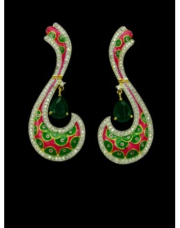 Designer Indian CZ Earring - 89234