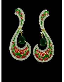 Designer Indian CZ Earring - 89236