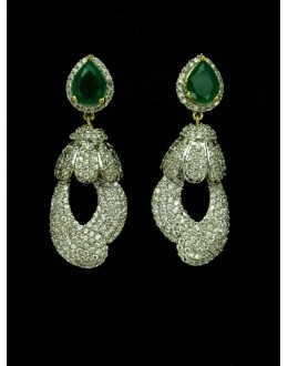 Designer Indian CZ Jhumka - 89433