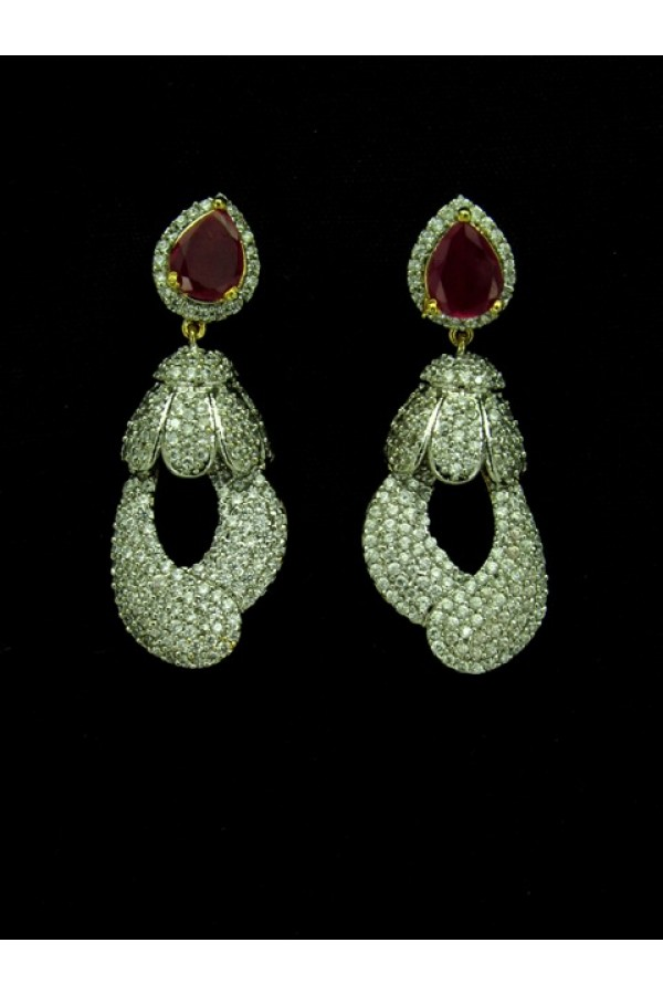 Designer Indian CZ Jhumka - 89435