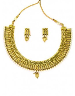 Bridal Wear Polki Necklace Set - 664010