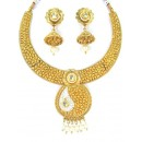 Designer Polki Necklace Set - 87750