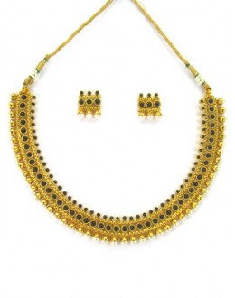 Designer Polki Necklace Set - 87850
