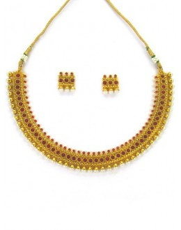 Designer Polki Necklace Set - 87851
