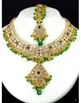 Designer Stone Necklace Set - 51420