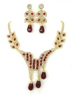 Designer Stone Necklace Set - 65718