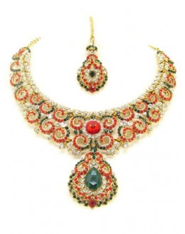 Designer Stone Necklace Set - 66105