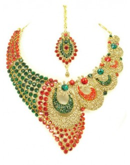 Designer Stone Necklace Set - 69173