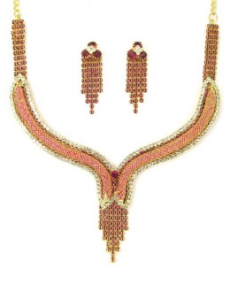 Designer Stone Necklace Set - 75344