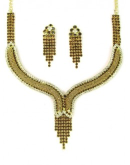 Designer Stone Necklace Set - 75350