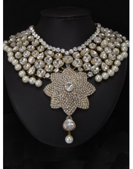 Designer Stone Necklace Set - 76795